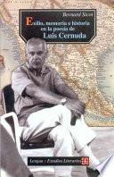 libro Exilio, Memoria E Historia En La Poesía De Luis Cernuda (1938 1963)
