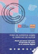 libro Foro De Expertos Sobre El Derecho De Autor