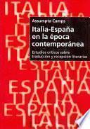 libro Italia España En La Epoca Contemporanea
