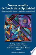 libro Nuevos Estudios De Teoría De La Optimidad