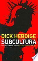 libro Subcultura