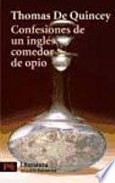 libro Confesiones De Un Inglés Comedor De Opio