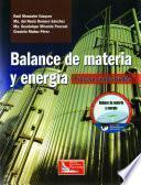 Balance De Materia Y Energía