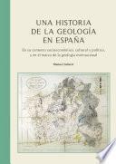 libro Una Historia De La Geología En España