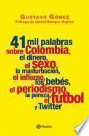 libro 41 Mil Palabras Sobre Colombia