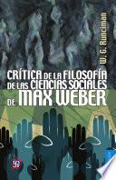 libro Crítica De La Filosofía De Las Ciencias Sociales De Max Weber