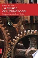 libro La División Del Trabajo Social