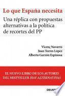 libro Lo Que España Necesita