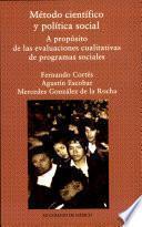 libro Metodo Científico Y Política Social