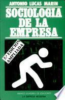 libro Sociología De La Empresa