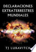 libro Declaraciones Extraterrestres Mundiales