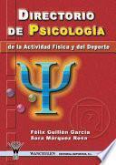 libro Directorio De Psicología De La Actividad Física Y El Deporte