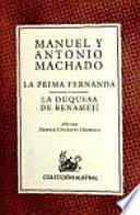 libro La Prima Fernanda ; La Duquesa De Benamejí