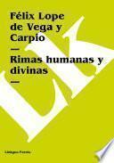 libro Rimas Humanas Y Divinas