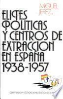 Elites Políticas Y Centros De Extracción En España, 1938 1957