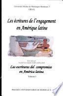 Escrituras Del Compromiso En América Latina