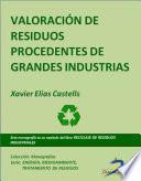 Valoración De Residuos Procedentes De Grandes Industrias