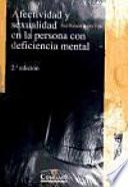 libro Afectividad Y Sexualidad En La Persona Con Deficiencia Mental