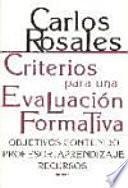 libro Criterios Para Una Evaluación Formativa