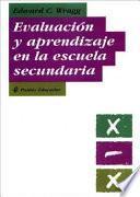 libro Evaluación Y Aprendizaje En La Escuela Secundaria