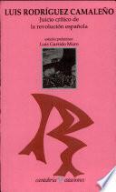 Juicio Crítico De La Revolución Española