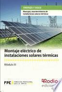 Montaje Eléctrico De Instalaciones Solares Térmicas. Energía Y Agua