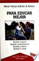 libro Para Educar Mejor