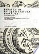 libro Paratextos En La Literatura Española