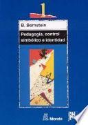 libro Pedagogía, Control Simbólico E Identidad