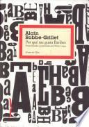 libro Por Qué Me Gusta Barthes