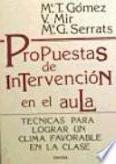 libro Propuestas De Intervención En El Aula