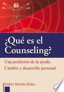 libro Qué Es El Counseling?