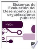 libro Sistemas De Evaluación Del Desempeño Para Organizaciones Públicas