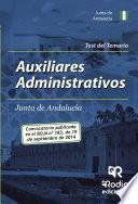 Test Del Temario. Auxiliares Administrativos De La Junta De Andalucía