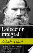 libro Colección Integral De León Tolstoi (guerra Y Paz, Ana Karenina, La Muerte De Iván Ilich, Resurrección)