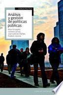 libro Análisis Y Gestión De Políticas Públicas