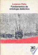 libro Fundamentos De Ontología Dialéctica