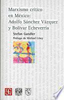 libro Marxismo Crítico En México