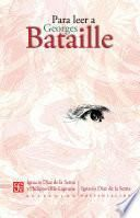 libro Para Leer A Georges Bataille