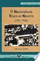 libro El Nacionalismo Vasco En Navarra (1931 1936)