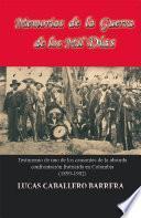 libro Memorias De La Guerra De Los Mil Días