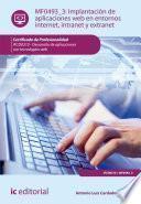 libro Implantación De Aplicaciones Web En Entornos Internet, Intranet Y Extranet. Ifcd0210