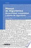 libro Manual De Algorítmica