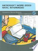 libro Microsoft Word 2003. Nivel Intermedio