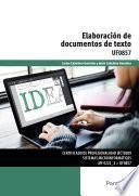libro Uf0857   Elaboración De Documentos De Texto