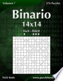 Binario 14×14   De Fácil A Difícil   Volumen 7   276 Puzzles