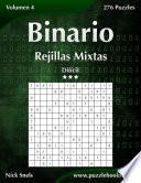 Binario Rejillas Mixtas   Difícil   Volumen 4   276 Puzzles