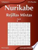 Nurikabe Rejillas Mixtas   Fácil   Volumen 2   276 Puzzles