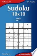 libro Sudoku 10x10   Medio   Volumen 10   276 Puzzles