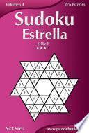 libro Sudoku Estrella   Difícil   Volumen 4   276 Puzzles